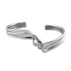 Silver riptide bangle