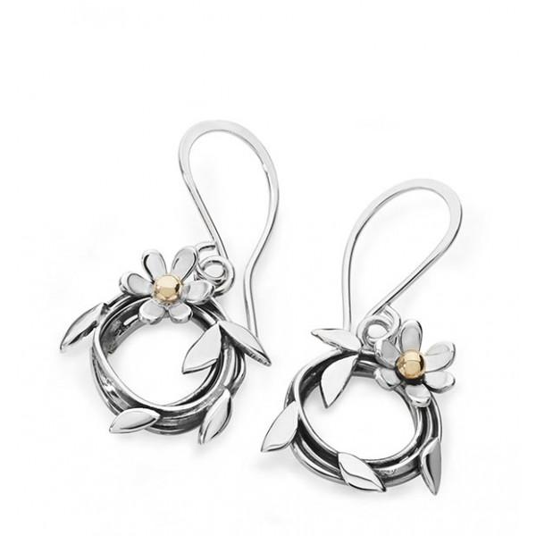 Silver Entwined Daisy Earrings