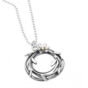 Silver Entwined Necklace