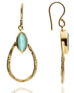 Athena Aqua Earrings