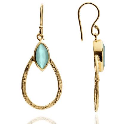 Athena Aqua Earrings