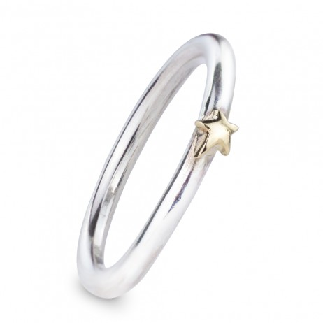 Silver Stardust Ring