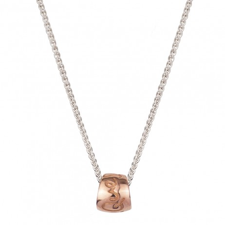 Silver And Gold Que Sera Necklace