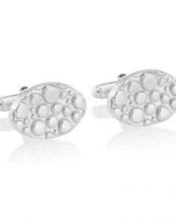 Silver Cobble Cufflinks