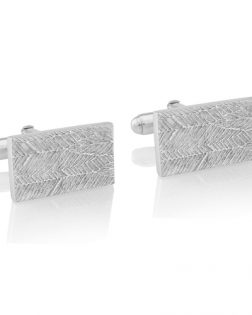 Silver Feather Cufflinks