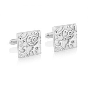 Sterling Silver Scroll Cufflinks
