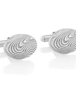 Silver Wave Cufflinks