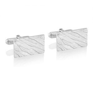 Silver Zebra Print Cufflinks