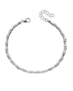 Silver Bamboo Bracelet