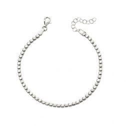 Silver Cubed Bracelet