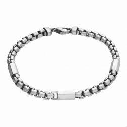 Mens Silver Bar Bracelet