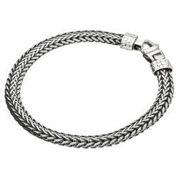 Mens Silver Byzantine Bracelet
