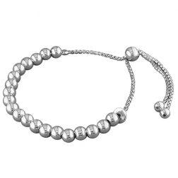 Silver Bead Slider Bracelet