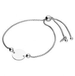Sterling Silver Disc Slider Bracelet