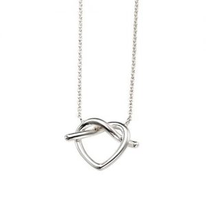Silver Entwined Heart Necklace