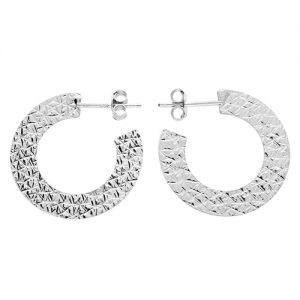Silver Orion Hoop Earrings