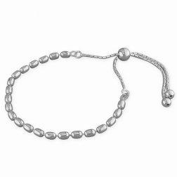 Silver Pebble Slider Bracelet