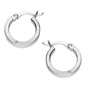 Silver Reflex Hoop Earrings