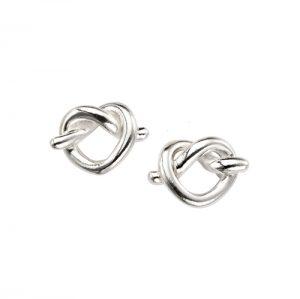Silver Entwined Heart Earrings